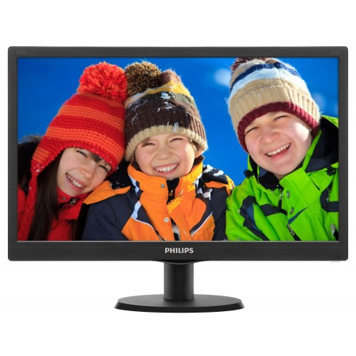 "Монитор, Philips 193V5LSB2, 18.5"" Wide TN LED, 5 ms, 10M:1 DCR, 200 cd/m2, 1366x768 HD, Black"